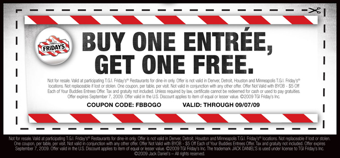 Tgif discounts coupons