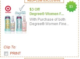 degree coupon