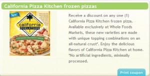 California Pizza Kitchen Birthday Special