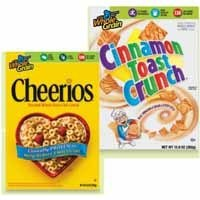 cheerios and cinnamon toast crunch