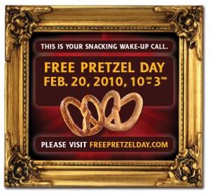 free pretzel day