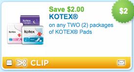 kotex coupon