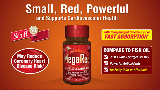 MegaRed Joint Care uses % pure Antarctic krill, tiny crustaceans that thrive in the pristine waters of the Antarctic. MegaRed krill oil provides an optimal combination of omega-3 fatty acids, phospholipids and the powerful antioxidant astaxanthin to promote joint comfort. Made with superba krill oil.