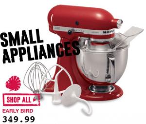 Kohl39;s: KitchenAid Artisan Mixer for only $158.50 4.5 Quart for $131