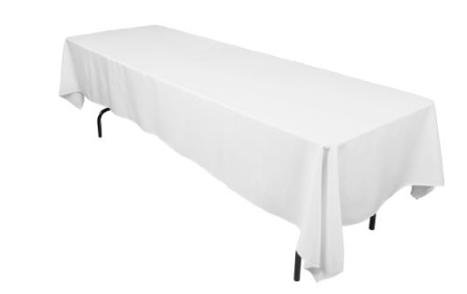 Need Some Fresh New Tablecloths For The Upcoming Holidays? Amazon Has This  60 X 126 In. Rectangular White Tablecloth ...