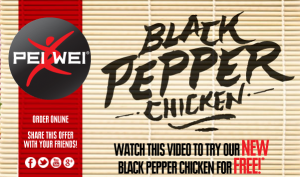 Pei-Wei-Black Pepper Chicken