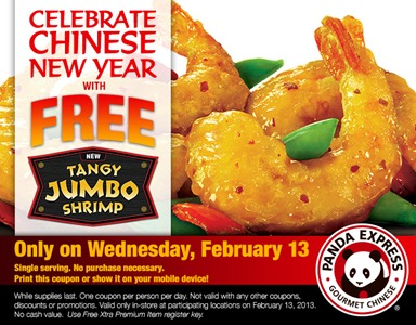 panda express coupon in celebration of chinese new year - Panda Express Chinese New Year
