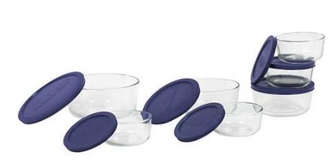 Pyrex Blue Storage Set