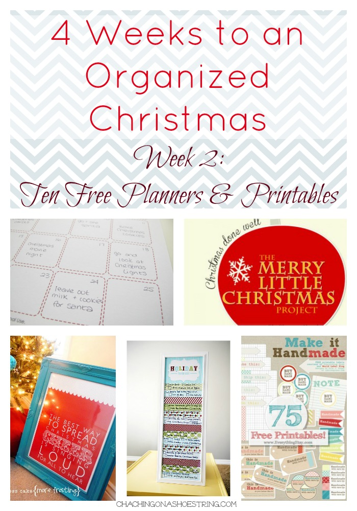 10 FREE Christmas printables and planners! | Merry Little Christmas Project