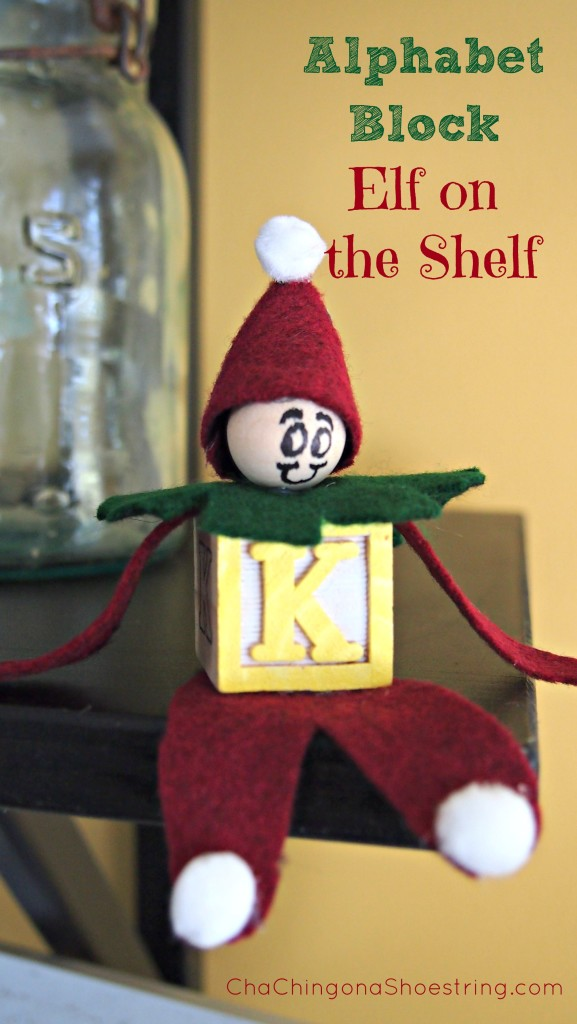 Alphabet Block Elf on the Shelf