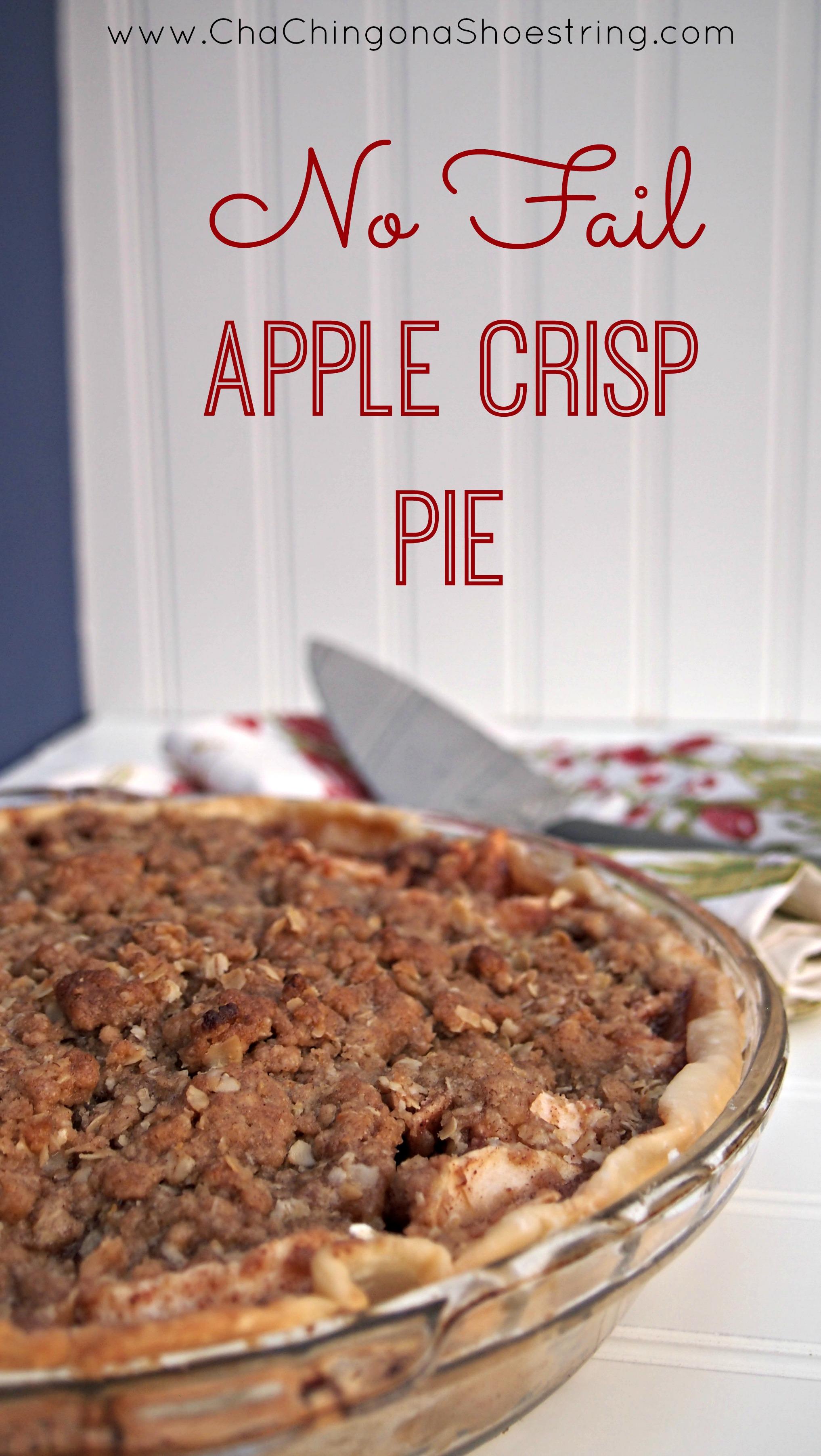 No Fail Apple Crisp Pie Recipe - Apple Crisp Pie Recipe with Oats