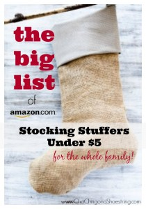 Stocking Stuffers Under $5 for Whole Family=