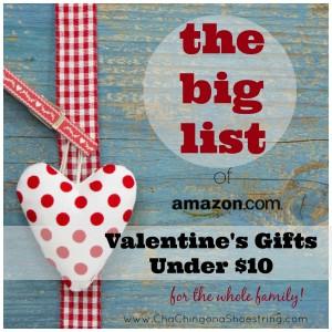 Valentine's Gifts Under $10=