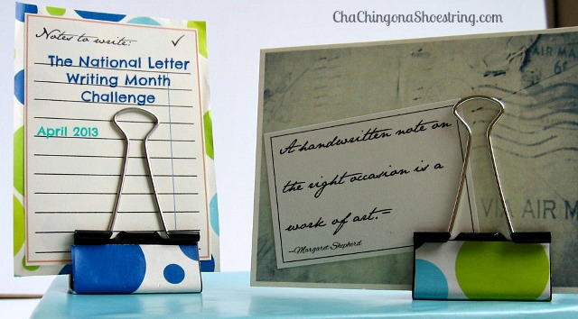 National Letter Writing Month Challenge