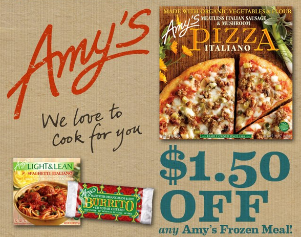 hot 1 50 1 amy s kitchen frozen meal printable coupon cha ching rh chachingonashoestring com amy's kitchen coupons 2017 amy's kitchen soup coupons