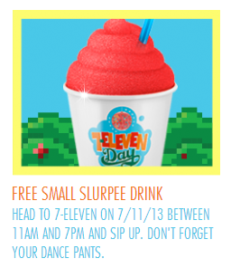 7 Eleven Free Small Slurpee On 7 11 Cha Ching On A